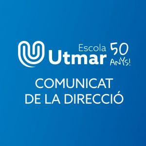 Comunicat de la Direcció arran de la convocatòria de vaga del 3 d'octubre