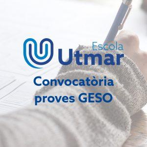 Convocatòria anual de les proves GESO