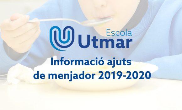 Informació ajuts menjador centre Esplugues de Llobregat 2019 – 2020