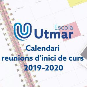Calendari de reunions d'inici de curs 2019-2020