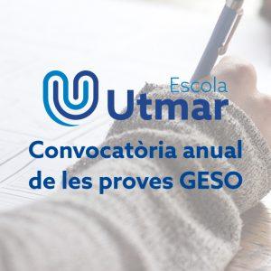 Proves GESO: convocàtoria anual