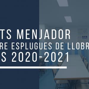 AJUTS MENJADOR CENTRE ESPLUGUES DE LLOBREGAT 2020–2021