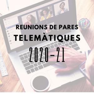 Enllaços reunions telemàtiques Inici Curs 2020-21