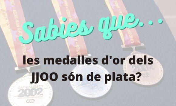 Sabies que les medalles d'or dels JJOO són de plata?